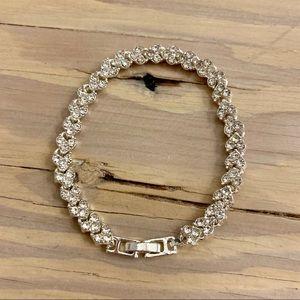 Jewelry - 2/$20 Heart Shaped Rhinestone Tennis bracelet.